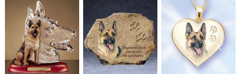 Gsd Collectibles German Shepherd Figurines Jewelry Plates And More
